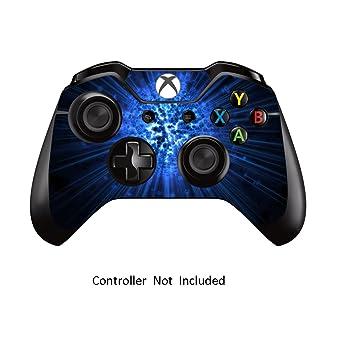 Xbox One Controller Designfolie Sticker - Vinyl Aufkleber Schutzfolie Skin für Xbox One Controller Blue Explosion