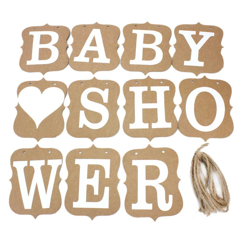 Vintage Photo Props Baby Shower Party Western Decoration Kraft Paper Banner Hot ReFaXi