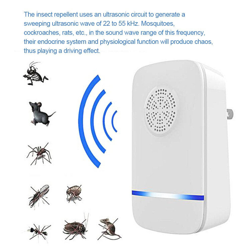 Ultrasonic Pest Mosquito Repellent Home Control Repellents By Electronic Circuit Professional Plugin Repeller 2 Pack Bug For Repels Ants Fleas Rats