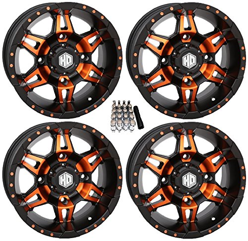 (STI HD7 UTV Wheels/Rims Orange/Black 14