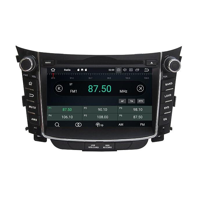 kunfine Android 8.0 Octa Core coche reproductor de DVD GPS navegación Multimedia estéreo coche para Hyundai i30 2011: Amazon.es: Electrónica