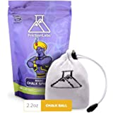 FrictionLabs Magic Chalk Ball, 2.2 oz - Premium Gym Chalk In Refillable Sock - Non Toxic - Great for Climbing, Gymnastics, Weightifting, Crossfit, Pool, Training