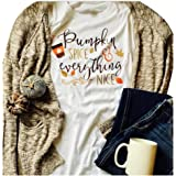 68213dcd78e GEMLON Pumpkin Spice and Everything Nice Long Sleeve T Shirt Womens Funny  Halloween Baseball Tee Shirts