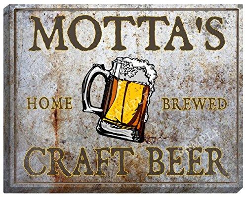 mottas-craft-beer-stretched-canvas-sign