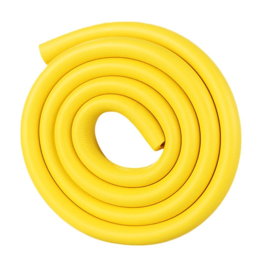 Baby Sicherheit,Jaminy U Kinderschutz Ecke Protektor Baby Sicherheitswachen Randschutz fest Winkel Selbstklebendes Gummi Schaum Siegel Streifen 200 cm Gelb