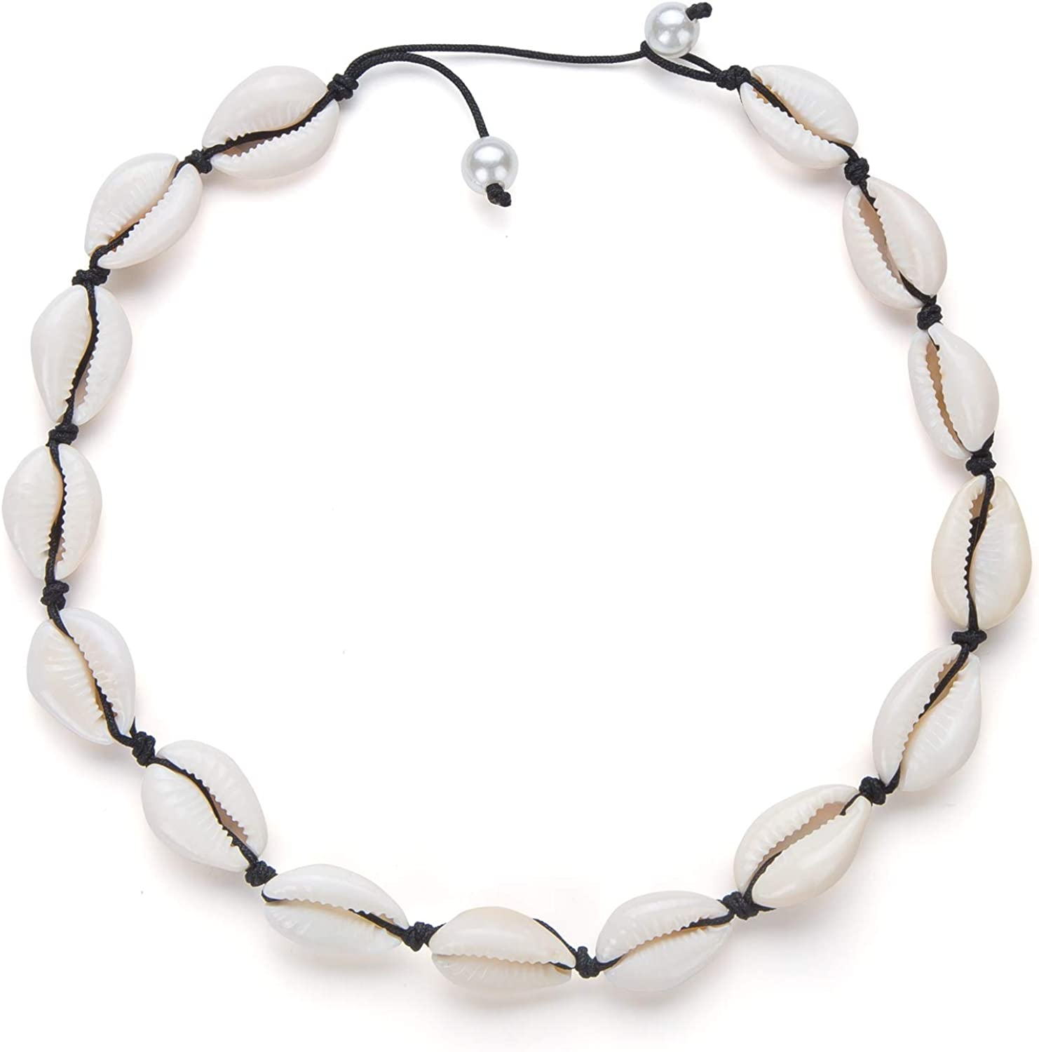 seashell jewelry Summer fashion necklace Beach White silver shell choker Wedding necklace Bib necklace cowrie cover Party Jewelry.
