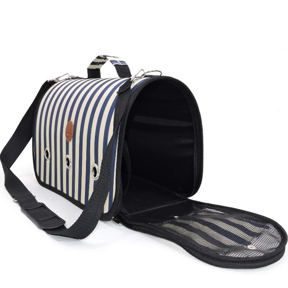 Medium X&MX Pet Backpack Airline Approved Pet Carriers Single Shoulder Diagonal Shoulder HandHeld Breathable Portable Dog Bag Cat Cage,M