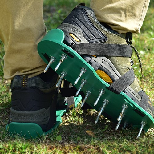 Luxxi Lawn Aerator Shoes w/Metal Buckles Spike Shoes with 3 Straps - Heavy Duty Spiked Sandals for Aerating Your Lawn and Grass for Garden or Yard (with 3 Straps) by Luxxi (Image #6)