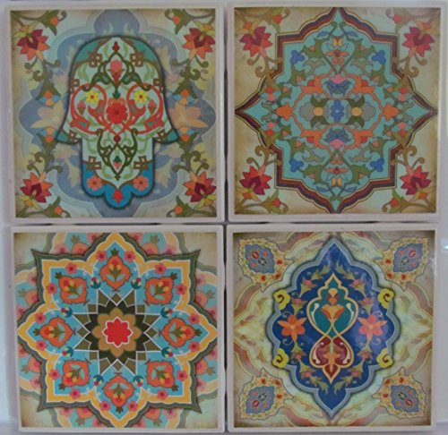 Personalized Coasters - Moroccan Design - Set of 4-4