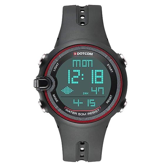 Reloj Digital para Hombre Actividades al Aire Libre Reloj Deportivo LED Gran Pantalla con 50 M a Prueba de Agua Deportivo Sumergible cronógrafo Cuenta ...