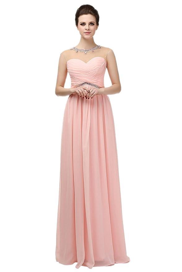 Ikerenwedding Damen Empire Kleid Small Gr. 42, rose: Amazon.de: Bekleidung
