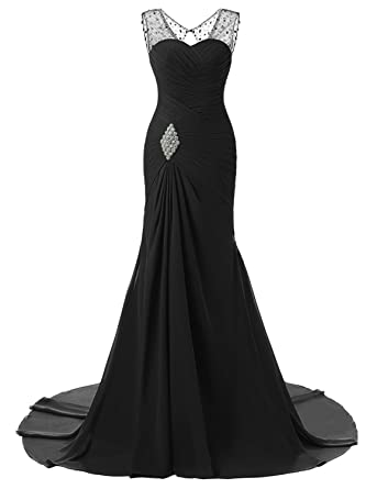 8824554571a8 Lily Wedding Womens Mermaid Prom Bridesmaid Dresses 2018 Long Evening Formal  Party Ball Gowns FED003 Black