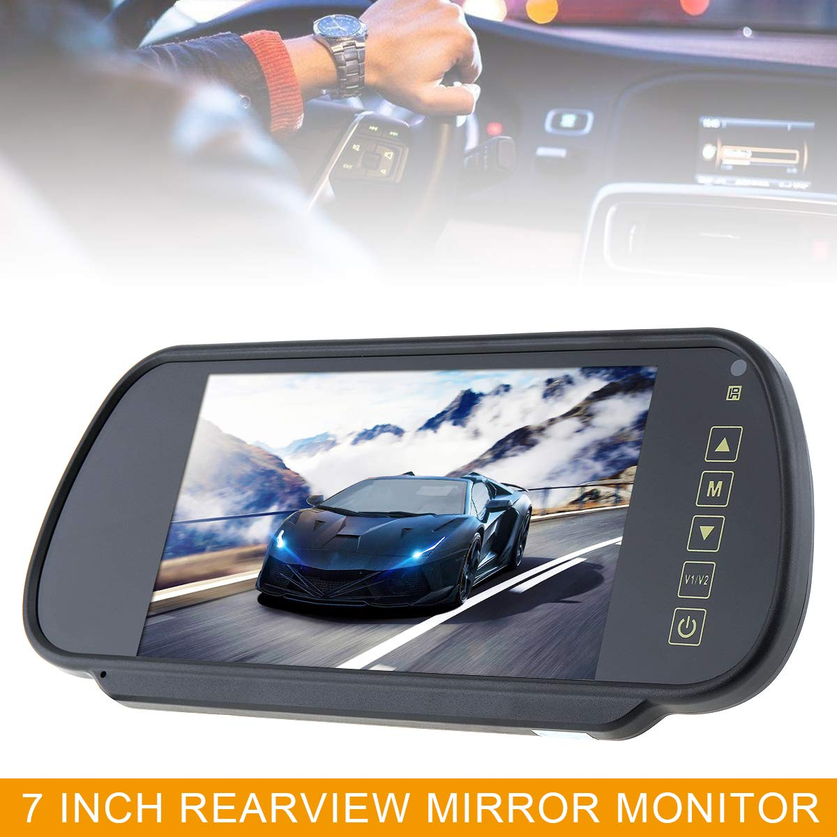Car RGB Digital Display Rear View VCR Monitor with Touch Button 7 ...