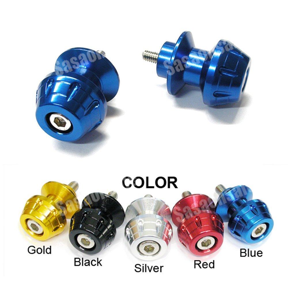 MIT Motors - BLUE - 8mm Universal Swingarm Spools - SUZUKI GSXR 600 750 1000 1300 Hayabusa, TL1000S TLS, TL1000R TLR, Bandit, SV 650 Made in Taiwan