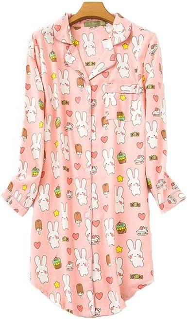 Pijama Mujer algodón Invierno Manga Larga Ropa de Dormir Tallas ...