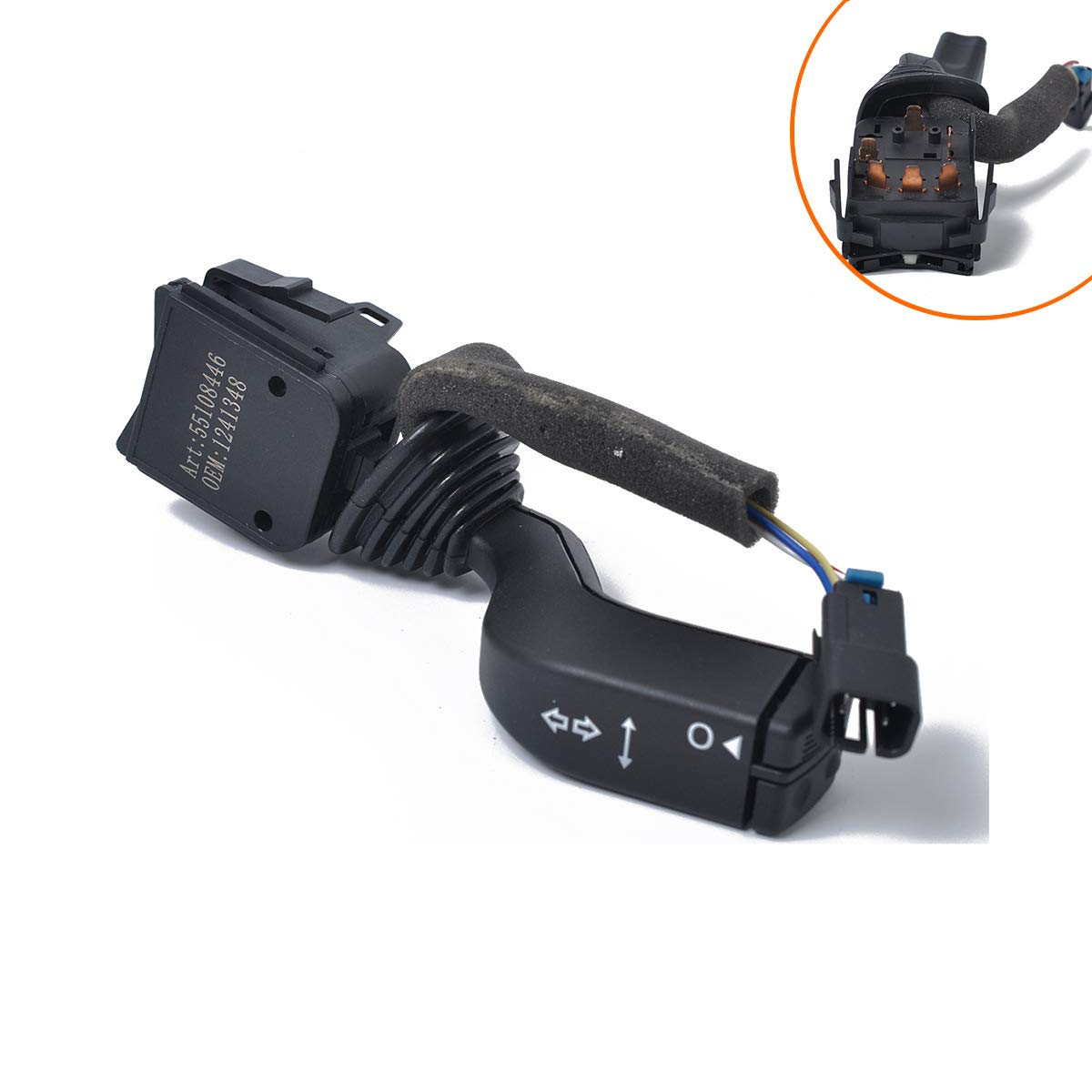Cruise Control Wiper Replaces Part # 2330814 Washers Vauxhall Hazard Switch 26100985 Multi-Function Combination Switch 26036312 for Opel Turn Signal