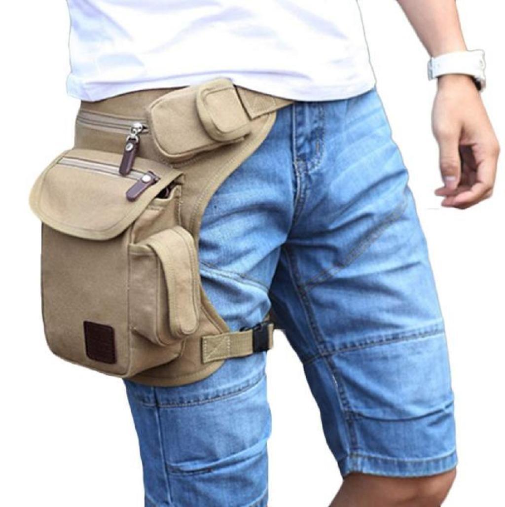 mochilas hombres Sannysis hombres Bolsa de la pierna de lona