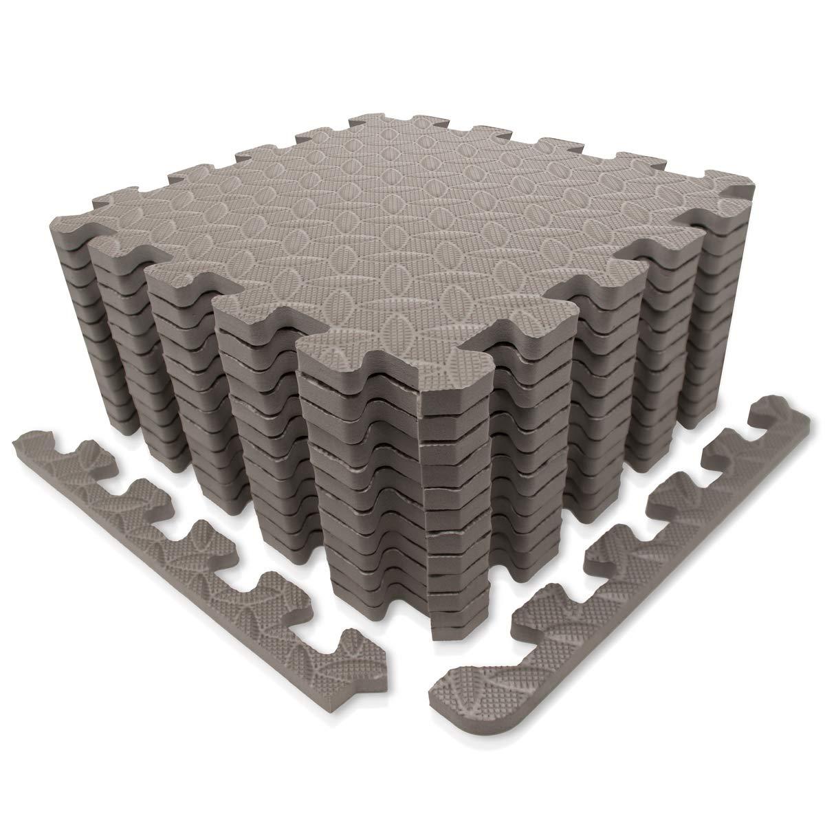 本物保証!  9ホーン エクササイズマット (~12sqf) 12/保護フロアマット EVAフォームインターロックタイルとエッジピース付き ジム機器、ヨガ、表面保護 12 Tiles グレー (~12sqf) パープル B07CZ1FSYL グレー 12 Tiles (~12sqf) 12 Tiles (~12sqf)|グレー, GOKIGEN:5db6c1d9 --- arianechie.dominiotemporario.com