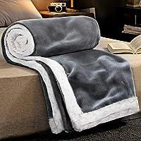 RATEL Mantas para Sofa Gris 150×200cm, Mantas para Cama Mejorada 460GSM, Manta de Microfibra 100% Supersuave - Fácil De…