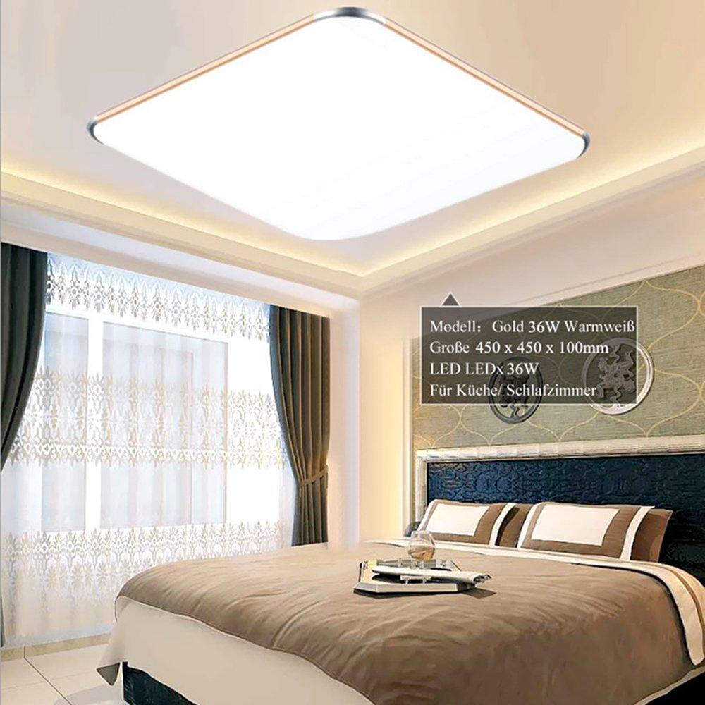 18W Warmweiß LED Modern Deckenlampe Ultraslim Deckenleuchte Schlafzimmer  Küche Flur Wohnzimmer Lampe Wandleuchte Energie Sparen Licht ...