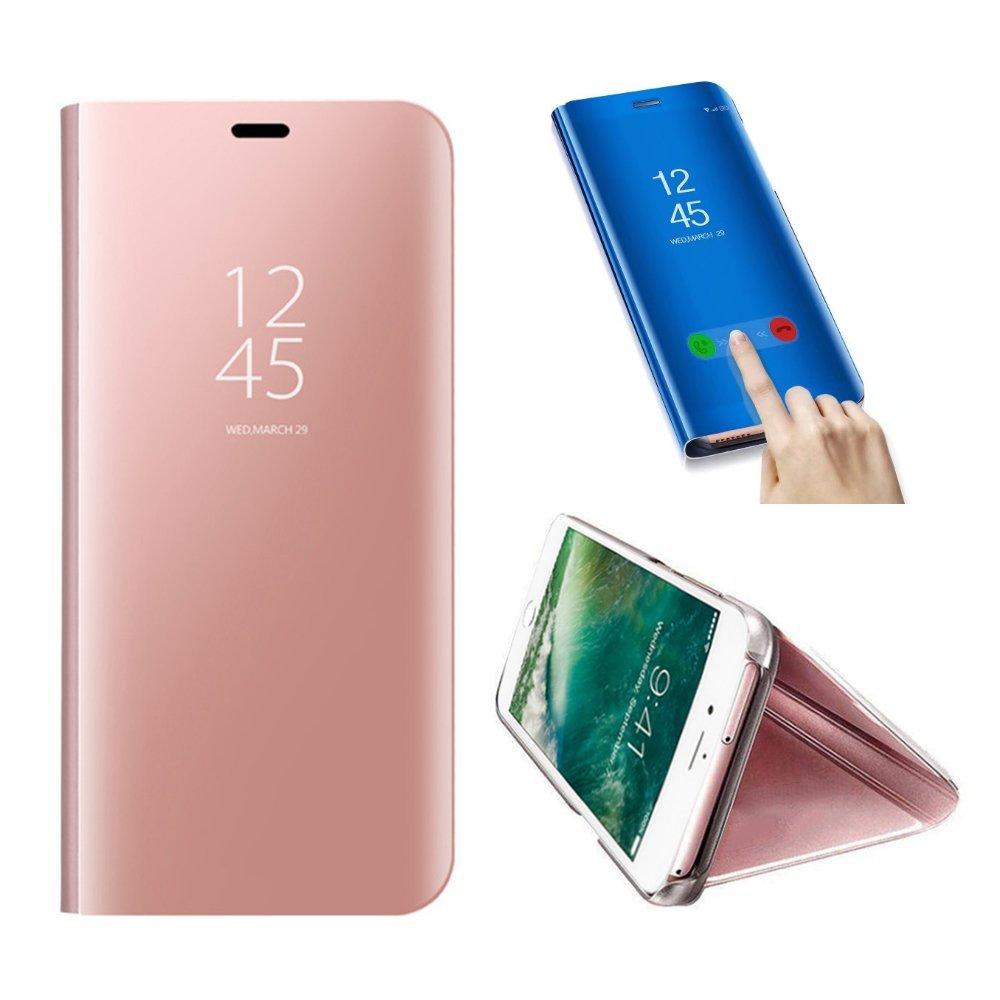 Caja del teléfono móvil Metal para Xiaomi Redmi 4X , Xiaomi Redmi 4X Espejo, SevenPanda Flip Stand Espejo de lujo Funda transparente Funda del teléfono móvil Función inteligente Sleep / Wake Ultra Thin Glitter Cristal Rhinestone Libro PC Hard Alumno resis