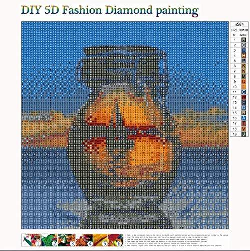 DIY 5d diamond painting,Pintura al oleo por numeros y decoraci/ón del hogar,Cuadros punto de cruz kit 30 x 30 cm Kit de pintura de diamantes 5D completo DIY