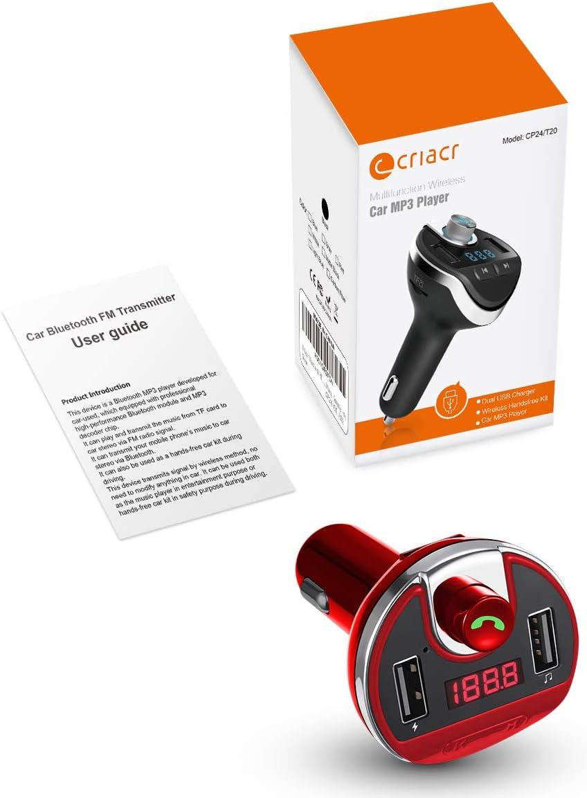 ORIA Bluetooth FM Transmitter for Car, Wireless in-Car Radio 2020 Upgraded