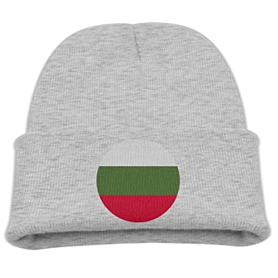 OQHO12 Bulgaria Kids Hat Warm Soft Fashion Cute Knitted Cap for Autumn Winter