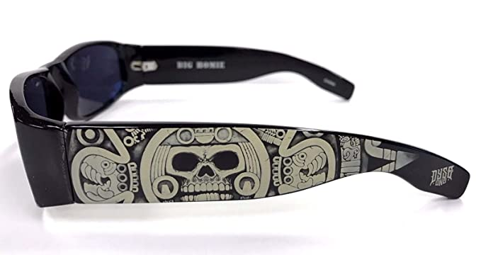 Authentic Dyse One Shades Skeleton Aztec Skullender Black Sunglasses California Style