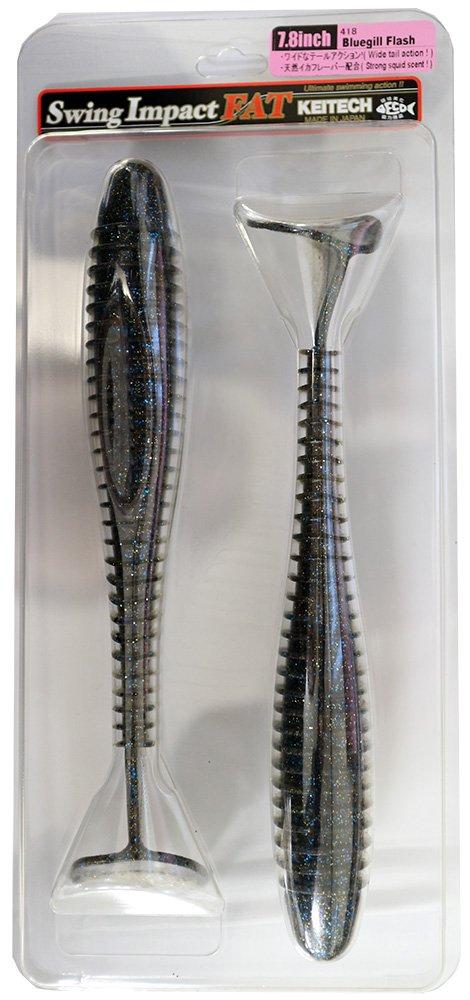 'keitech Fat (aprox. Swing Impact 7,8 (aprox. Fat 20 cm)//muchos colores disponible//Pez de goma de Japón//La – Señuelo de pesca para lucio, lucioperca y perca., Silver Flash Minnow 132177
