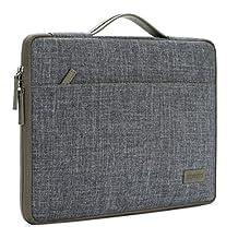 "DOMISO 15.6 Inch Laptop Sleeve Portable Carrying Case Comfort Handbag Soft Computer Handle Bag for 15.6"" Lenovo / Acer / ASUS / HP / Dell / Toshiba , Dark Grey"