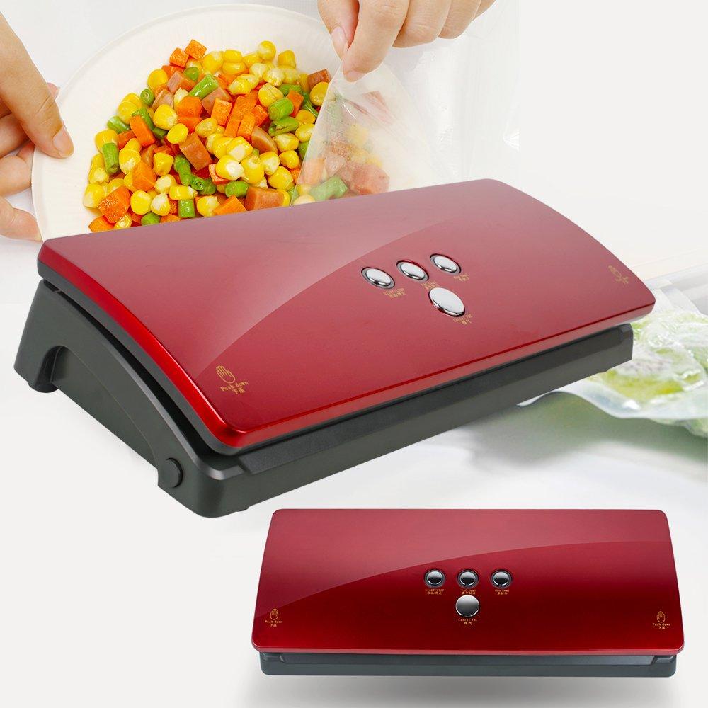 Denshine Vacuum Packing Machine,Vacuum Sealers Deluxe Automatic Kitchen Food Sealer Machine Vacuum Sealing System for Food Preservation