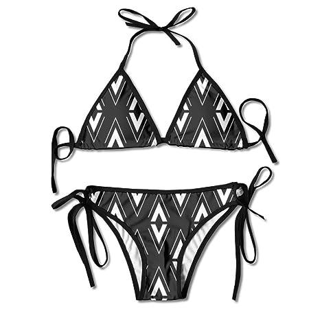 9f465049b36 Qiangzhao Womens Sexy Swimsuits Black And White Bikini Set Fashion Beach Bathing  Suits Swimwear