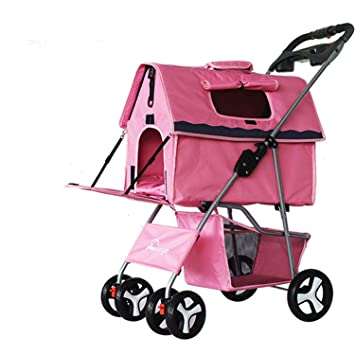 Pet Trolley Cat Dog Carts Carrier Split Type Pet Pushchair Pet Stroller Dog Gram Multifunction for