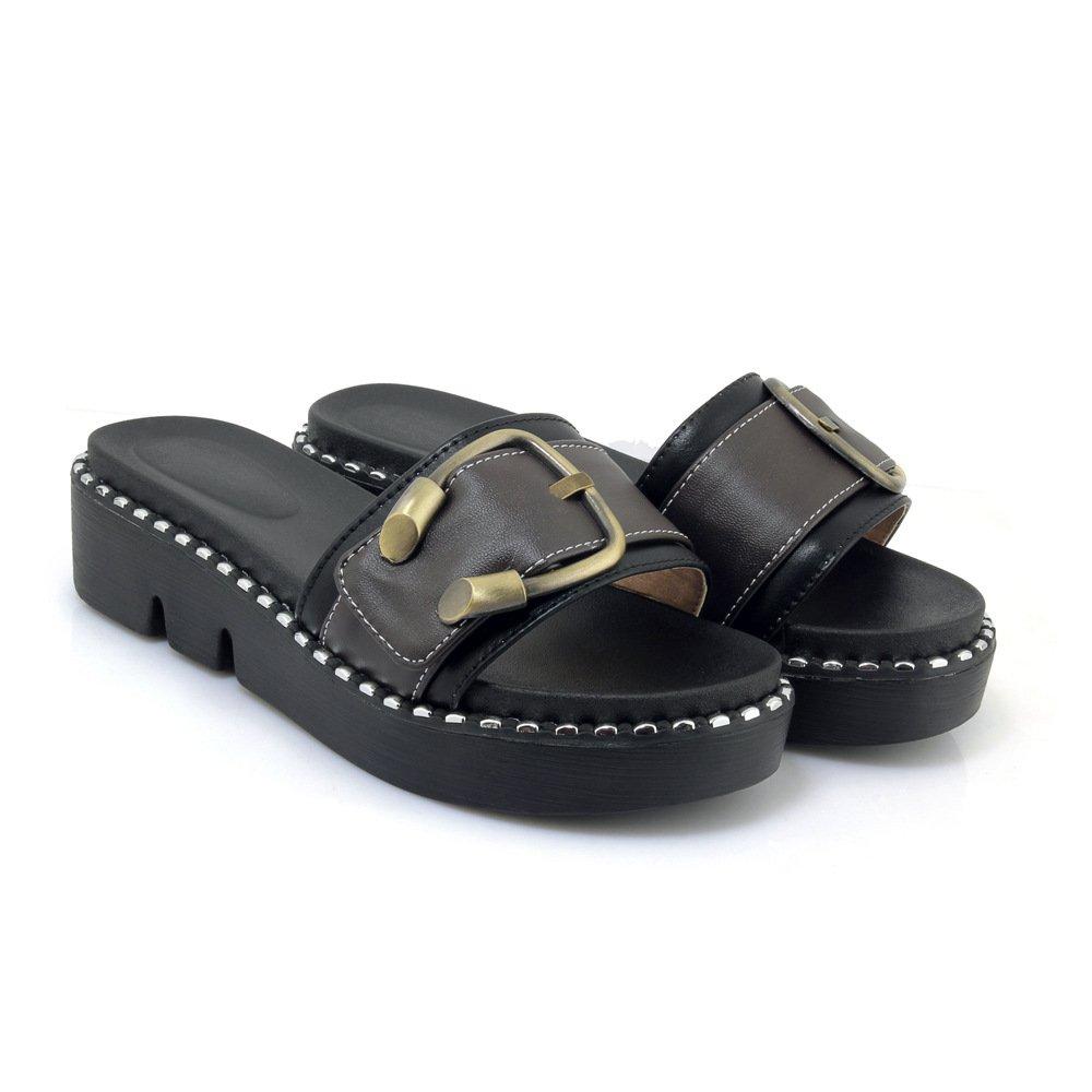 Sandales décontractées Talons, pour Femmes, 19994 Chaussures à Talons, Pantoufles B00MY4MVGQ Noir 4ddf9f6 - automaticcouplings.space