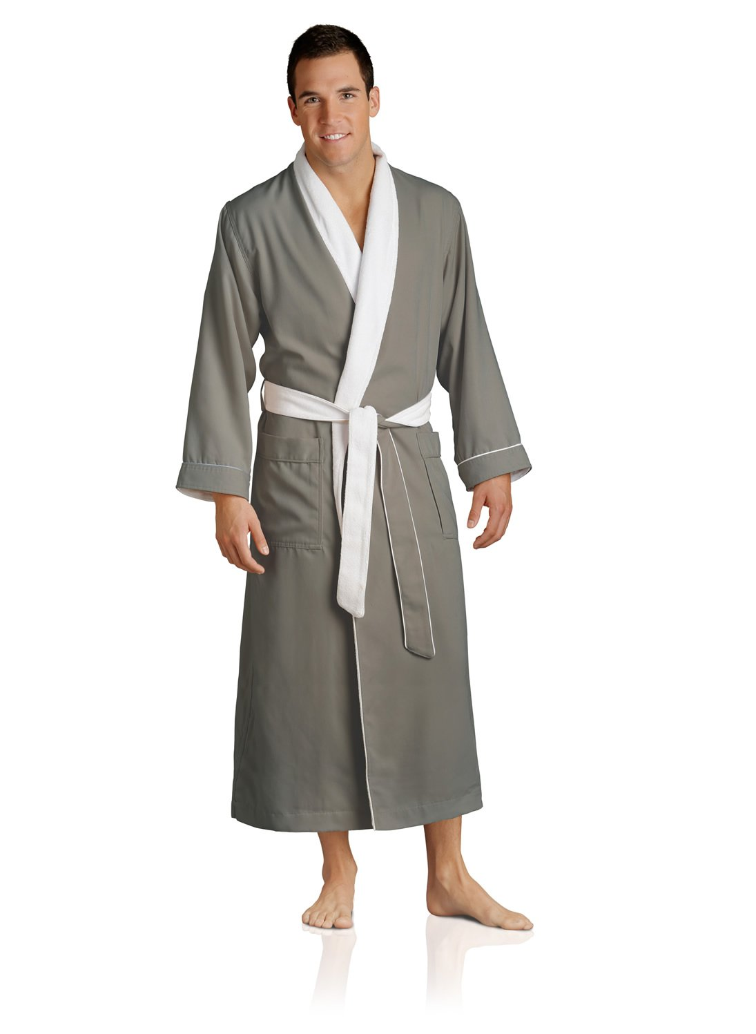 Luxury Spa Robe - Microfiber with Cotton Terry Lining, Sandstone, XX-Large