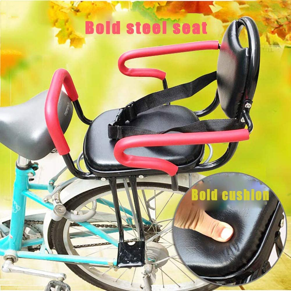 YXZN Fahrradsitz Kinder Hinten Armlehne Abnehmbare Tragf/äHigkeit 45kg mit Dickem Sicherheitsgurt