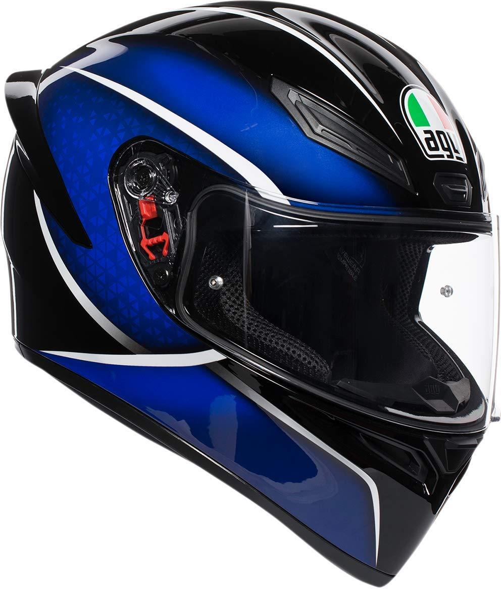 AGV Unisex-Adult Full Face K-1 Qualify Motorcycle Helmet Black//Lime, Large