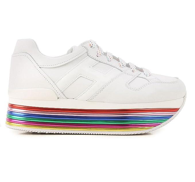 Hogan Donna Maxi H222 in Pelle Sneakers Mod. HXW3520T548I6SB001 Bianca 38½   Amazon.co.uk  Clothing e9108d7a103