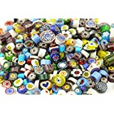MS 100g (appr. 200Pcs) Assorted Colors Venice Hand Fusible Glass Beads Charms