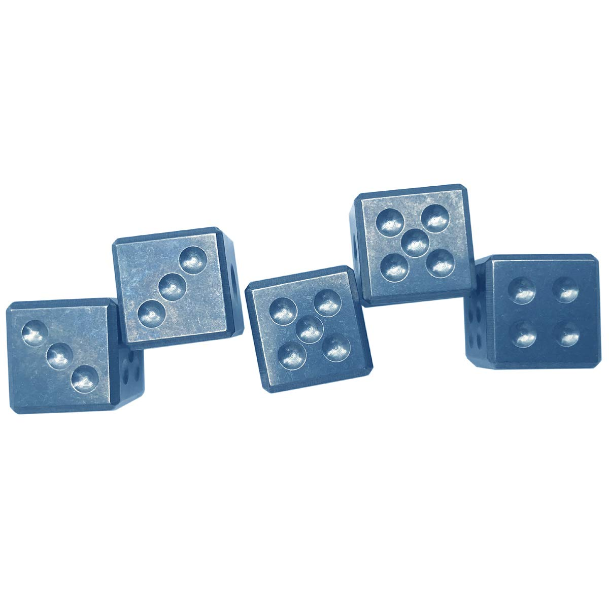 FREELOVE Titanium Alloy 6-Sided Game Dice/Ice Cube (Blue, 0.63'')