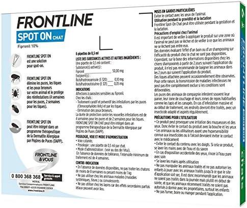 FRONTLINE Spot-on Chat - Anti-puces et anti-tiques