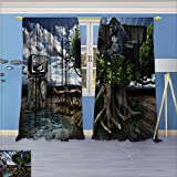 SCOCICI1588 Room Darkening Window Curtain Panel Pair From the ancient to the present mankind has been developing in the progressive society for Living Room W104