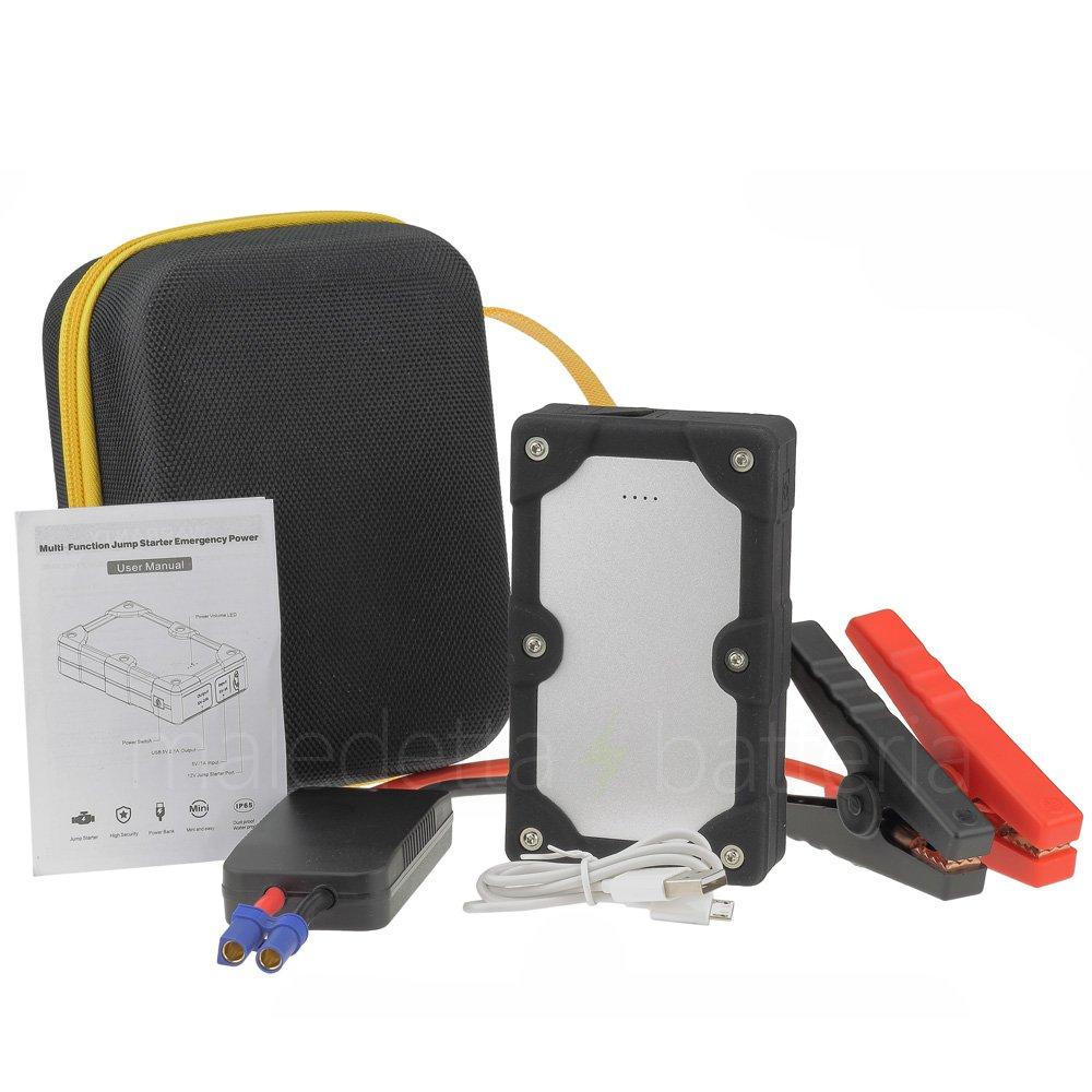 Avviatore di emergenza per Auto - Batteria Booster - Starter - Power Bank Portatile - Nero MaledettaBatteria