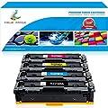 True Image Compatible Toner Cartridge Replacement for HP 202A CF500A CF500X 202X Toner HP M281fdw M254dw Toner HP Color Laserjet Pro MFP M281fdw M281cdw M254dw M254nw M280nw M254 M281 Toner Ink -4Pack