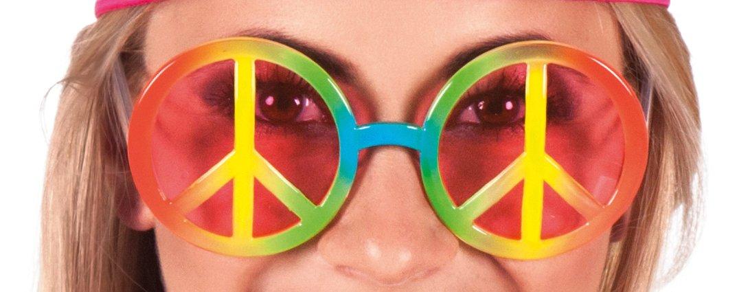 One Size Boland Hippie gafas cielo del arco iris para adultos