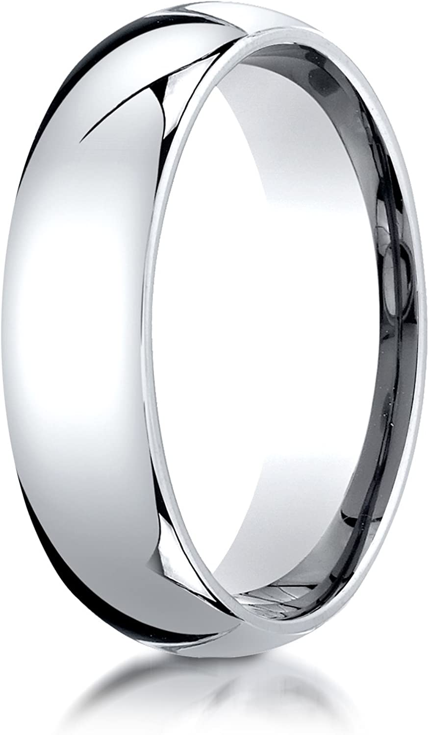 Stainless Steel /& 18K Yellow Gold inlay Domed 6.5mm Band Size 6
