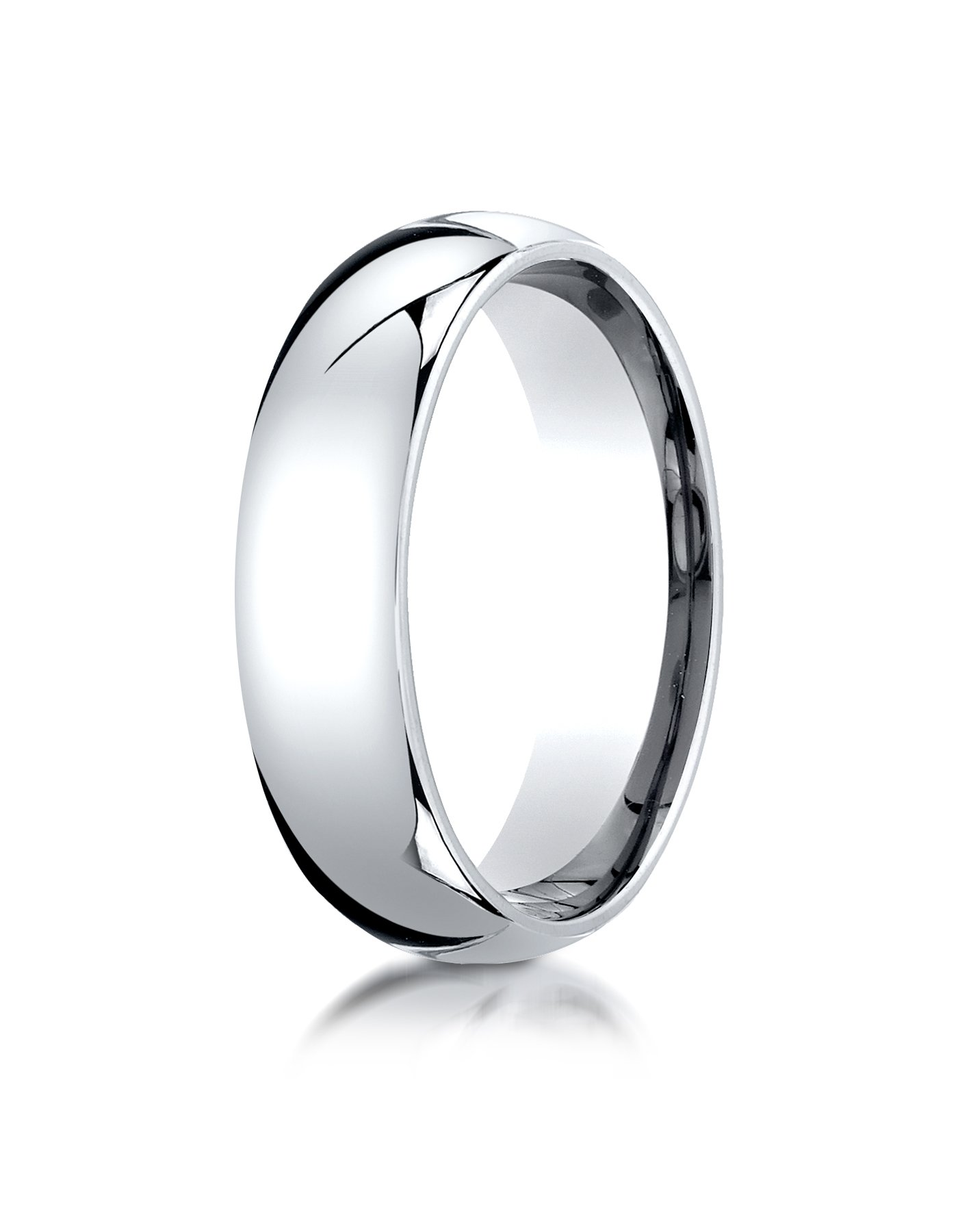 Men's Platinum 6mm Slim Profile Comfort Fit Wedding Band Ring, Size 7.5 by Aetonal