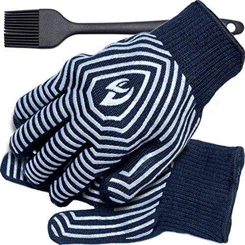 BBQ GLOVES - GRILLING GLOVES - VALENTINE'S DAY BEST GIFT - Grill Gloves - BBQ Gloves Men - Cooking Gloves - Large / XL - BBQ Grill Gloves - BBQ Grilling Gloves - Bonus Silicone Oil Brush