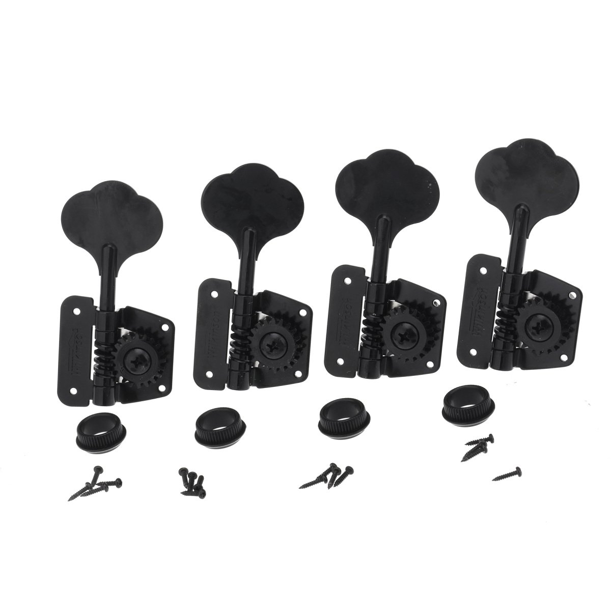 CHROME NEW 20:1 Gear Ratio 4-In-Line Import Bass Tuning Keys 4
